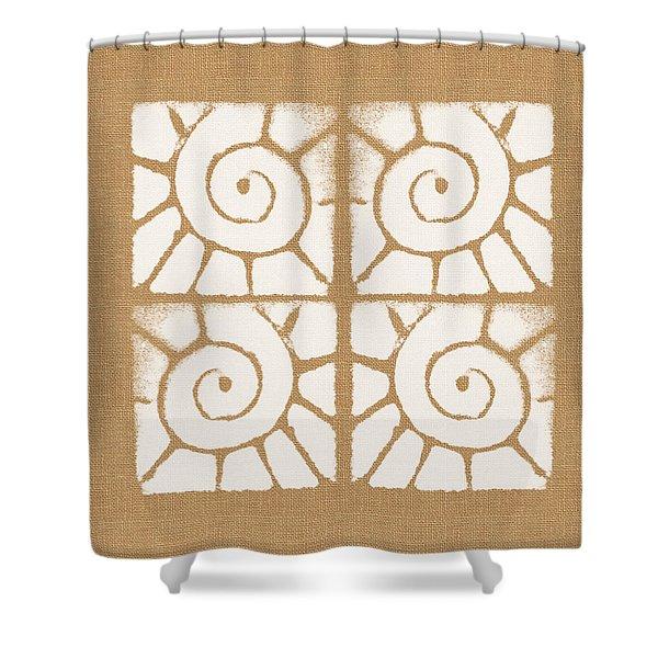 Seashell Tiles Shower Curtain