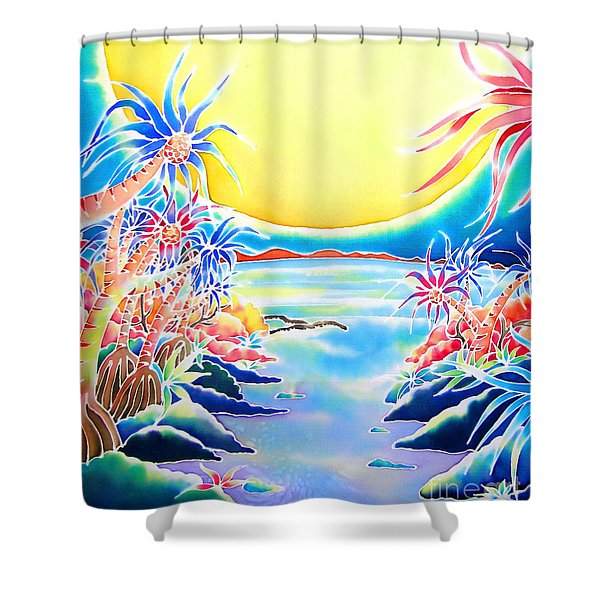 Seashore In The Moonlight Shower Curtain