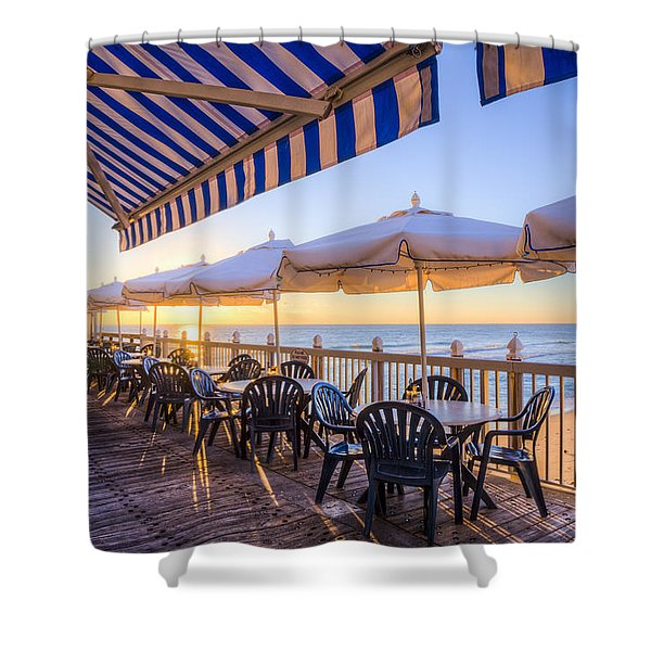 Seaside Cafe Shower Curtain