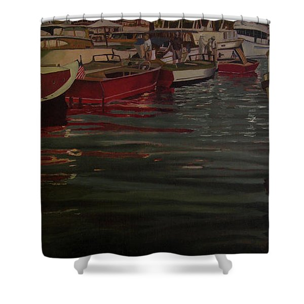 Seattle Boat Show Shower Curtain