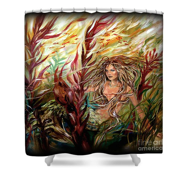 Seaweed Mermaid Pillow Shower Curtain