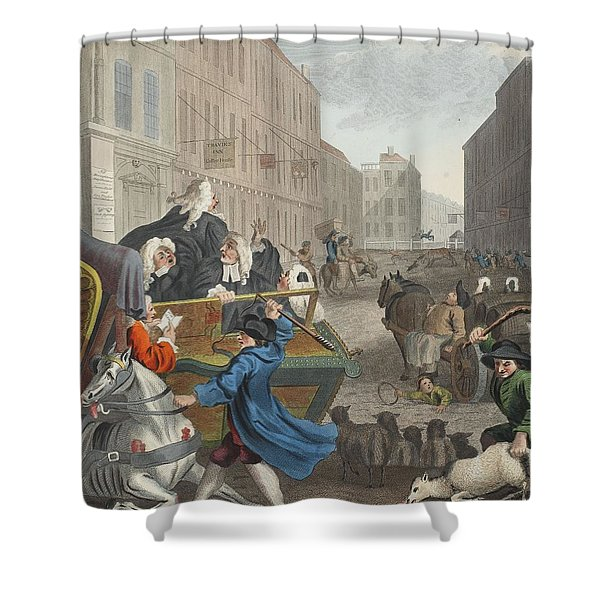 Second Stage Of Cruelty, Illustration Shower Curtain