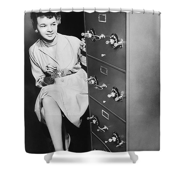 Secure Filing Cabinet Shower Curtain