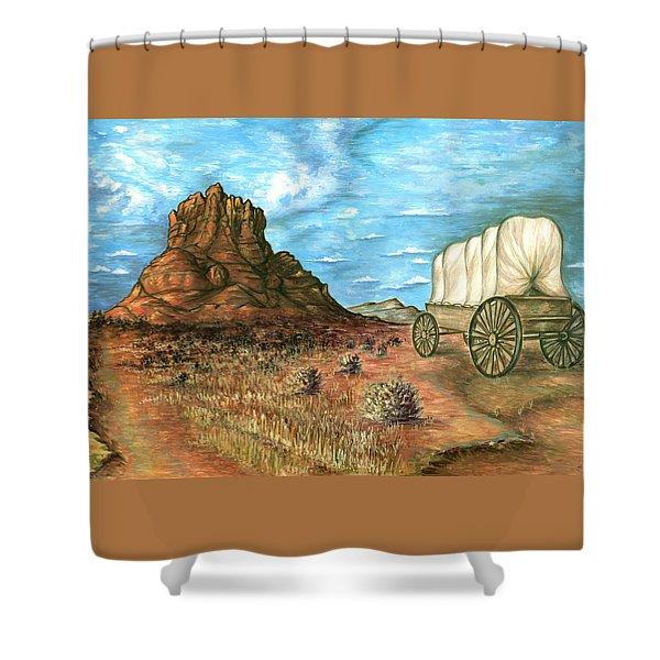 Sedona Arizona - Western Art Painting Shower Curtain