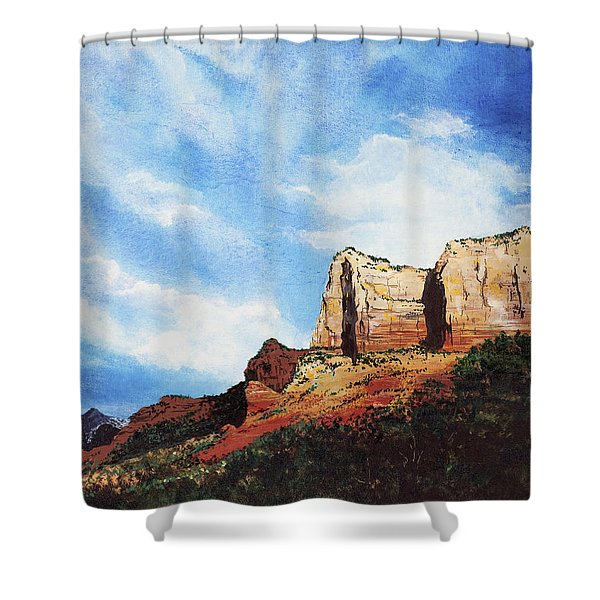 Sedona Mountains Shower Curtain