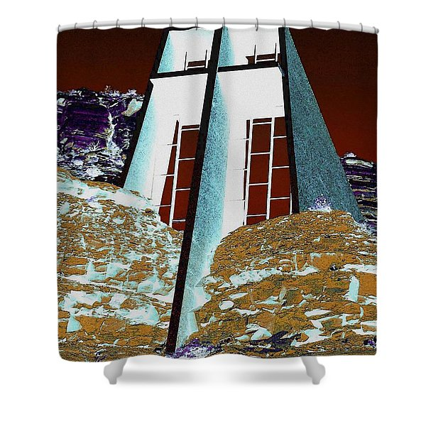 Sedona Rock Church Shower Curtain
