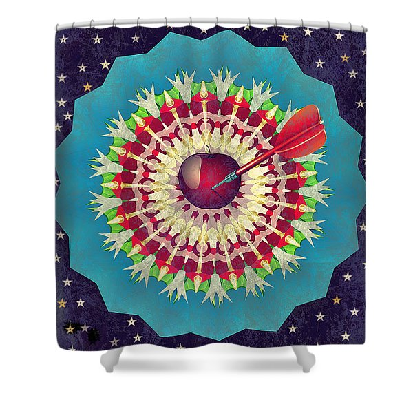 Shower Curtain featuring the digital art Seduction  by Eleni Mac Synodinos