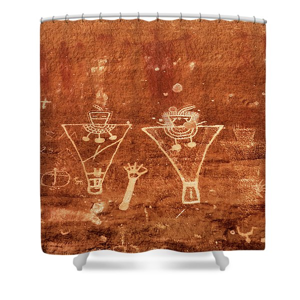 Sego Canyon Rock Art Shower Curtain