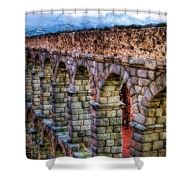 Segovia Aqueduct Spain By Diana Sainz Shower Curtain