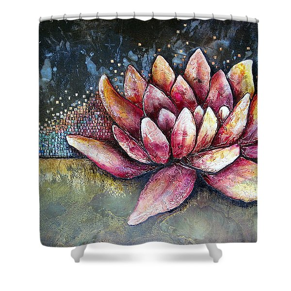 Self Portrait With Lotus Shower Curtain
