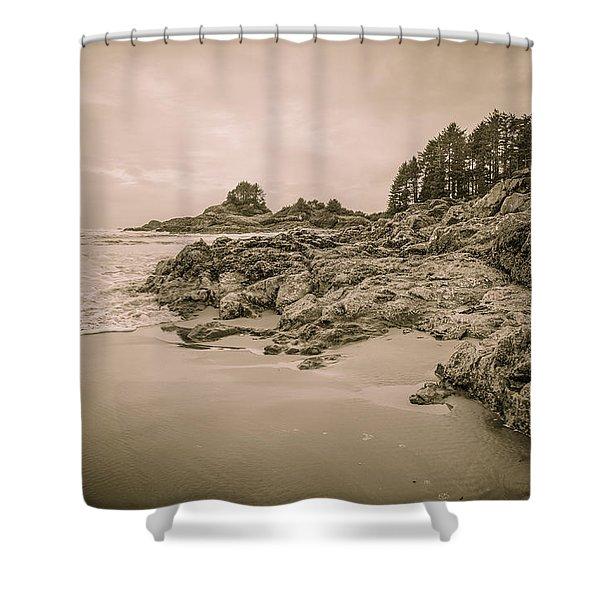 Cox Bay Sepia Shower Curtain