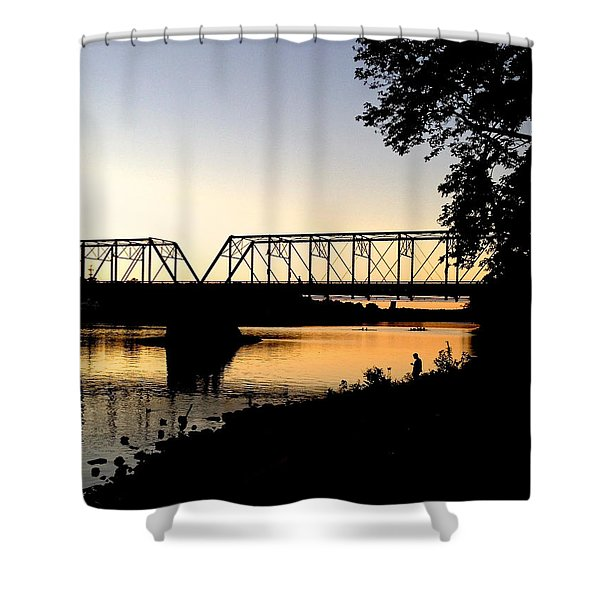 September Sunset On The River Shower Curtain