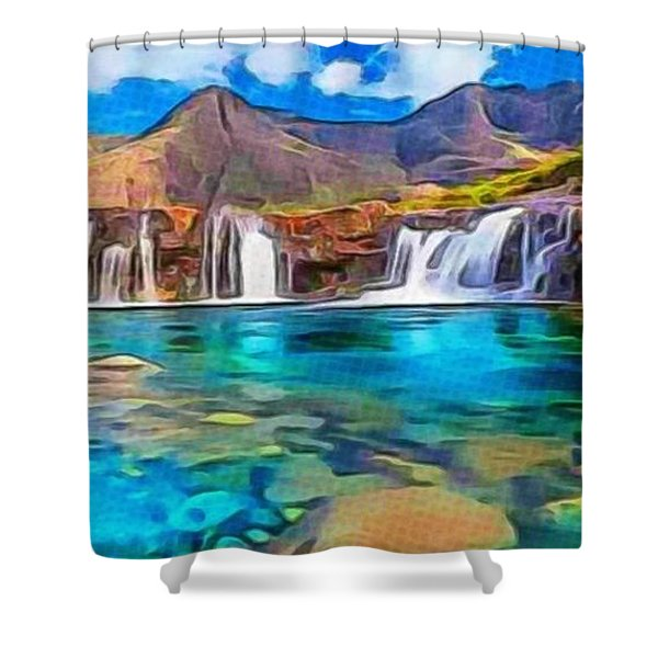 Serene Green Waters Shower Curtain