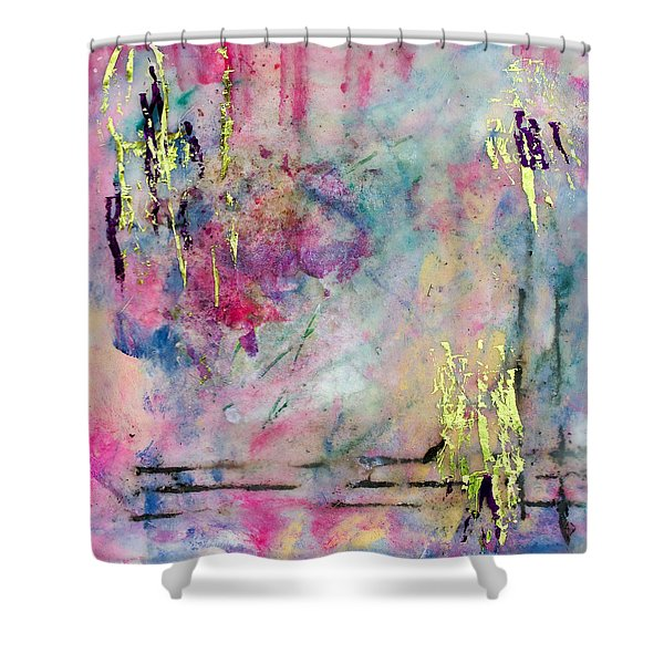 Serene Mist Encaustic Shower Curtain