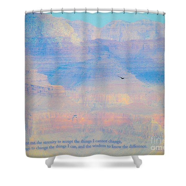 Serenity At The South Rim Shower Curtain