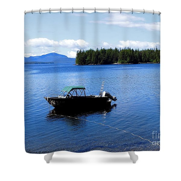Serenity Outside Of Ketchikan Ak Shower Curtain