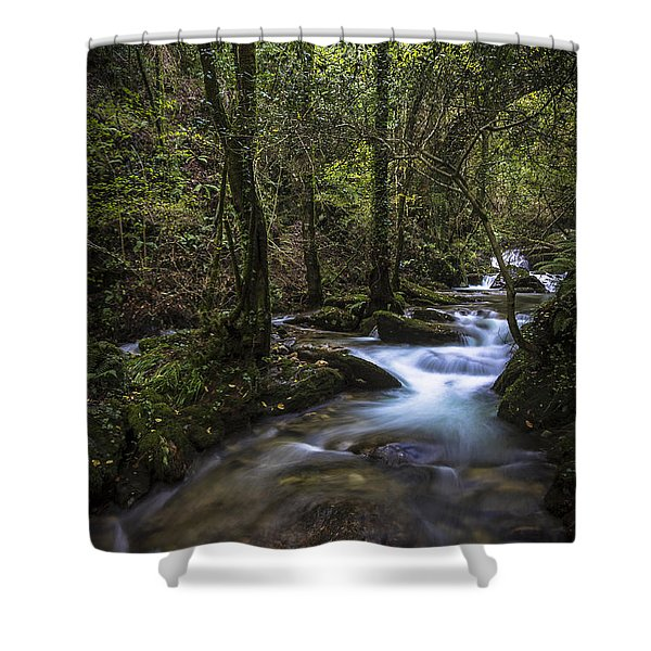 Sesin Stream Near Caaveiro Shower Curtain