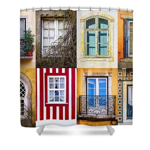 Set Of Windows Shower Curtain