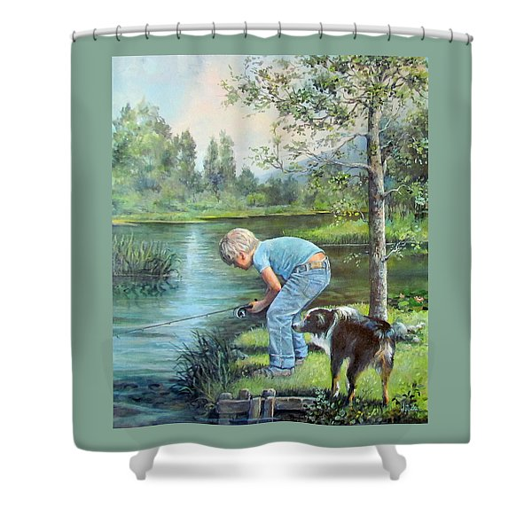 Seth And Spiky Fishing Shower Curtain