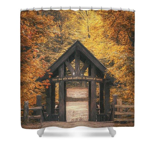 Seven Bridges Trail Head Shower Curtain