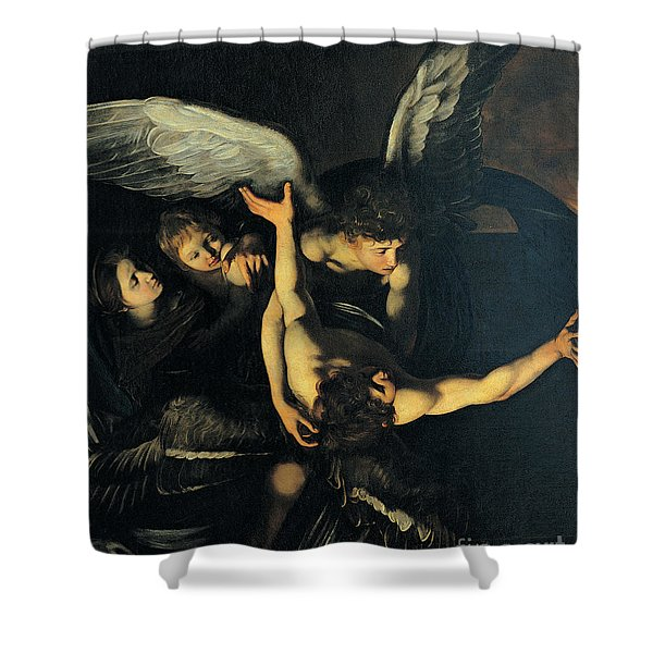 Seven Works Of Mercy Shower Curtain