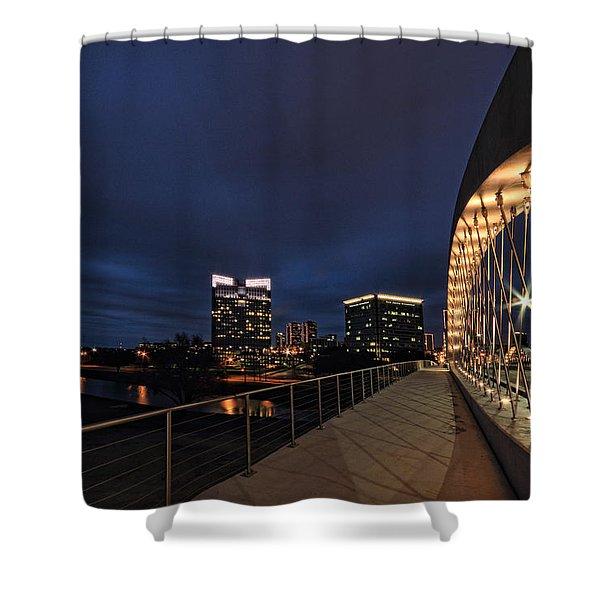 Seventh Avenue Bridge Fort Worth Shower Curtain