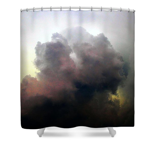 Shower Curtain featuring the photograph Severe Cells Over South Central Nebraska by NebraskaSC