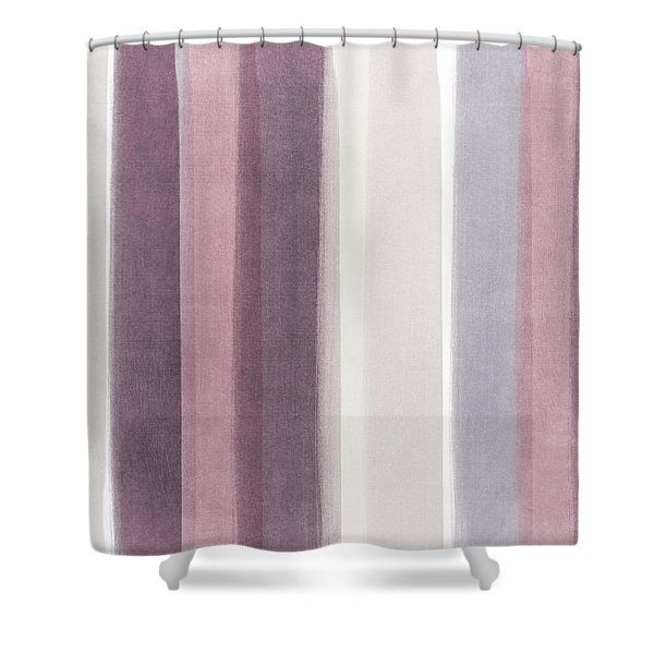 Shades Of Purple- Contemporary Abstract Painting Shower Curtain