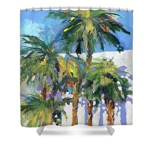 Shadow Palms I Shower Curtain