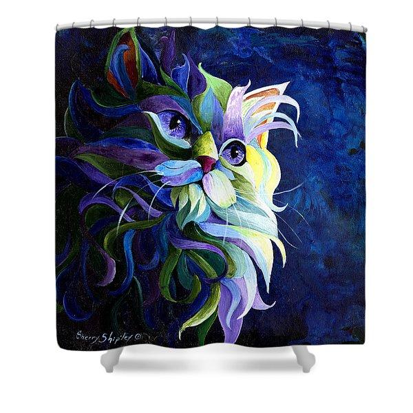 Shadow Puss Shower Curtain