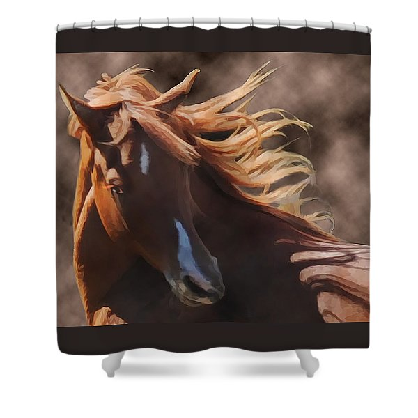 Shower Curtain featuring the photograph Shahmaan by Melinda Hughes-Berland