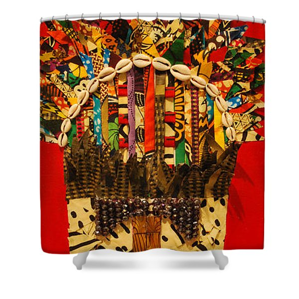 Shaka Zulu Shower Curtain