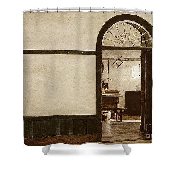 Shaker Pegs Shower Curtain
