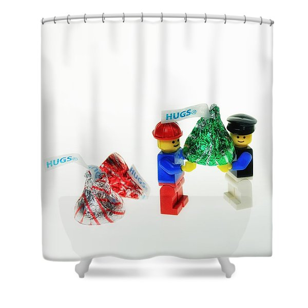Sharing A Hug Shower Curtain
