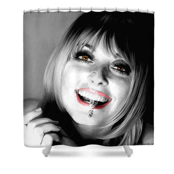 Sharon Tate Large Size Portrait Shower Curtain