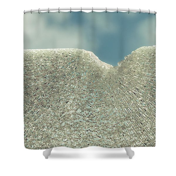 Shattered Summer Day Shower Curtain