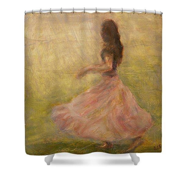 She Dances With The Rain Shower Curtain