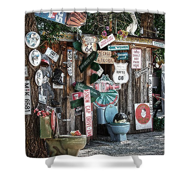 Shed Toilet Bowls And Plaques In Seligman Shower Curtain