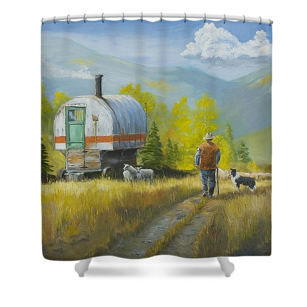 Sheep Camp Shower Curtain
