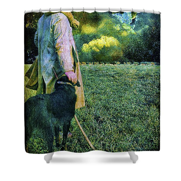 Shepherd And Moon Shower Curtain
