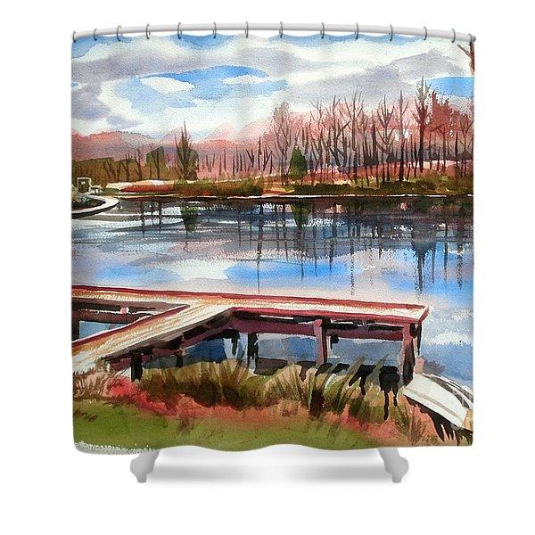 Shepherd Mountain Lake In Winter Shower Curtain