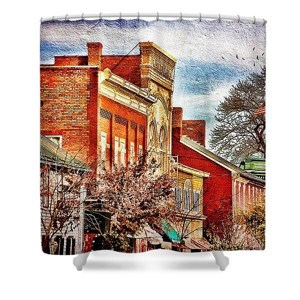 Shepherdstown - East German Street In November Shower Curtain