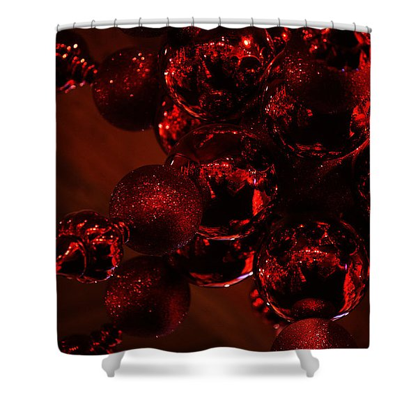 Shimmer In Red Shower Curtain