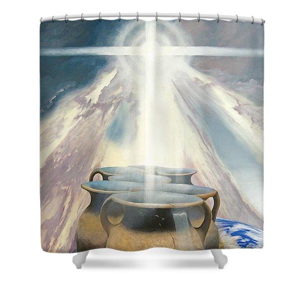 Shining Pots Shower Curtain