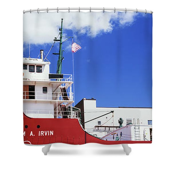 Ship Museum At A Harbor, William A Shower Curtain