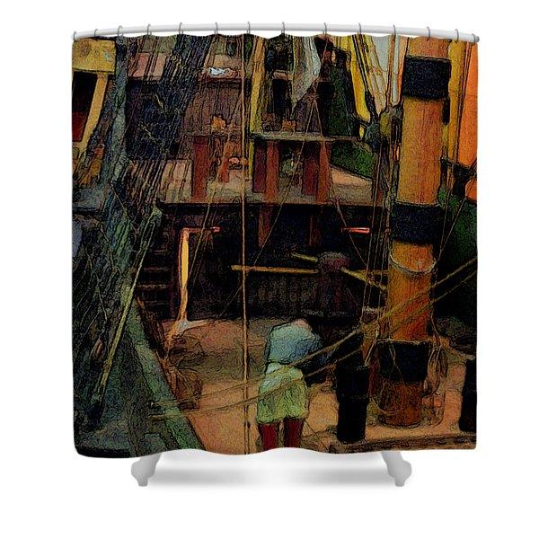 Ship's Carpenter Shower Curtain