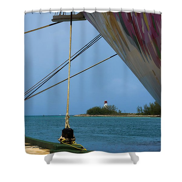 Ship's Ropes And Lighthouse Shower Curtain
