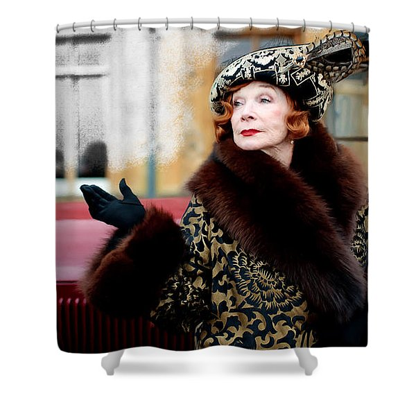 Shirley Maclaine @ Tv Serie Downton Abbey  Shower Curtain
