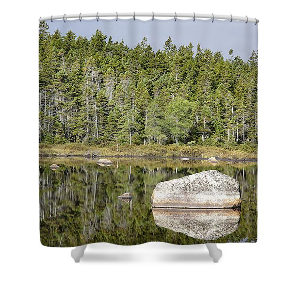 Shower Curtain featuring the photograph Shoal Pond - White Mountains New Hampshire by Erin Paul Donovan