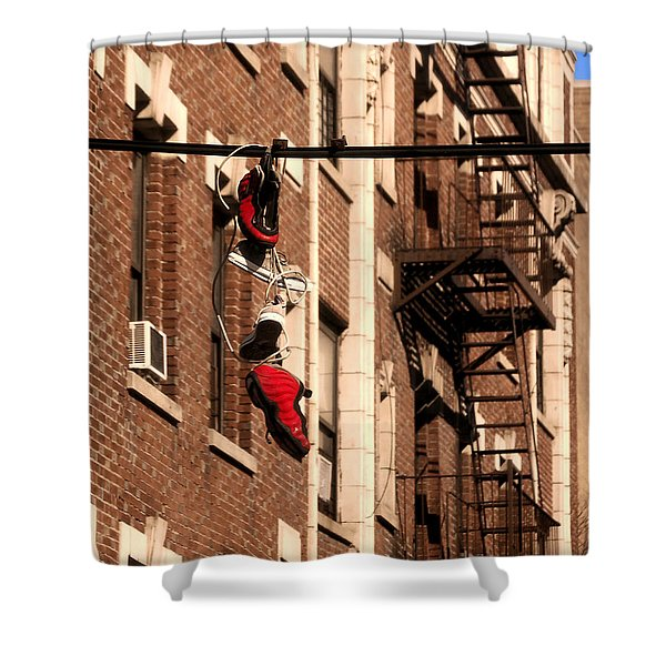 Shoes Hanging Shower Curtain